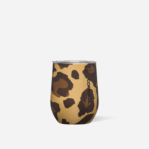Luxe Leopard 12oz Stemless at barquegifts.com