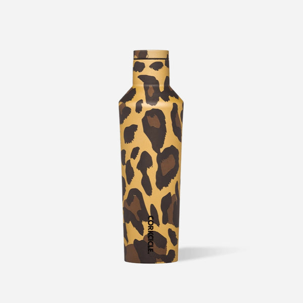 Luxe Leopard 16oz Corkcicle Canteen at barquegifts.com