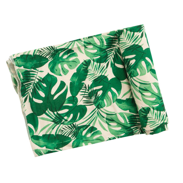 Monstera Deliciosa Swaddle Blanket at barquegifts.com