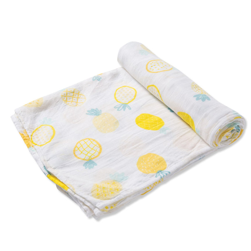 Pineapple Swaddle Blanket at barquegifts.com