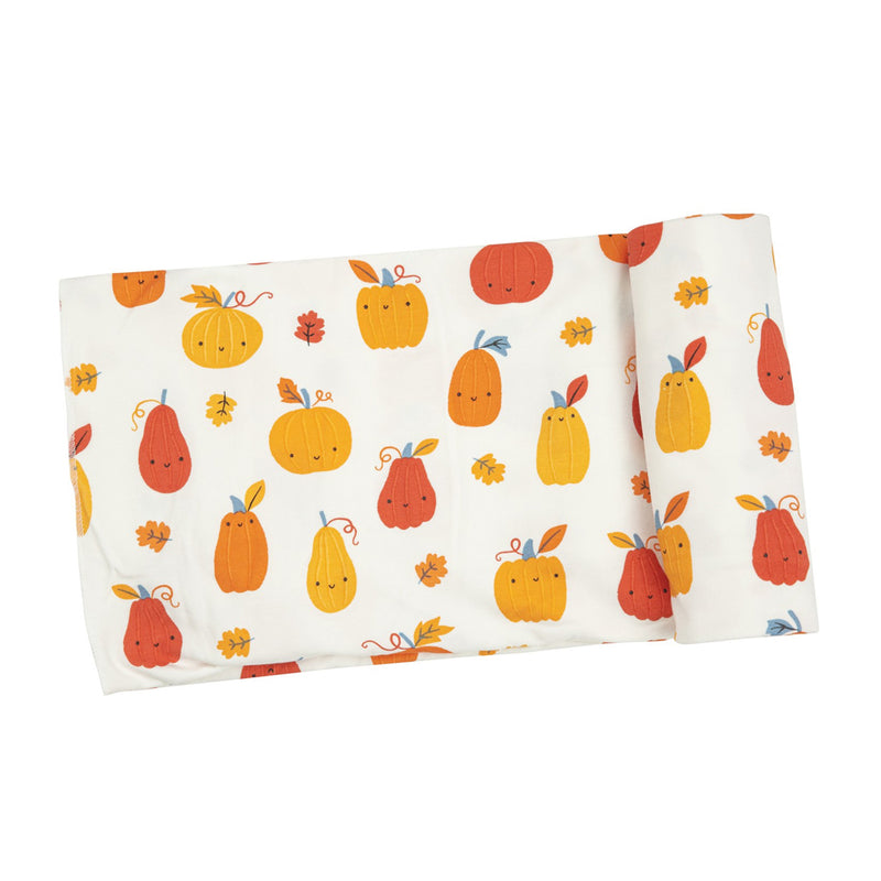 Pumpkin Patch Swaddle Blanket at barquegifts.com