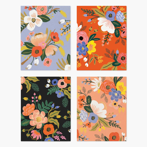 Rifle Paper Co. Assorted Lively Floral Card Set at barquegifts.com
