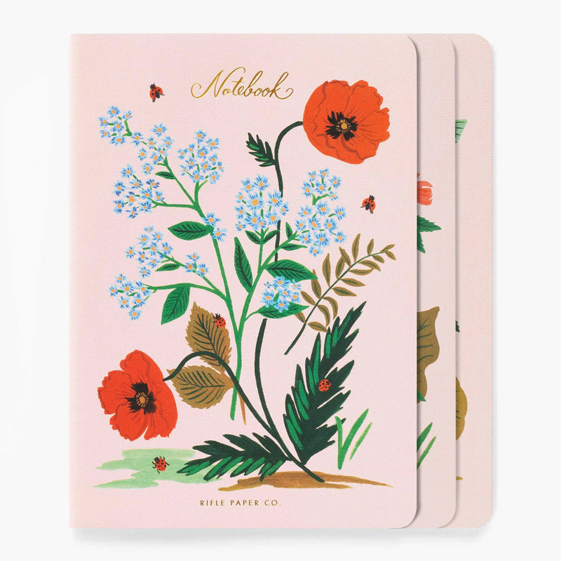 Rifle Paper Co. Assorted Set of 3 Botanical Notebooks