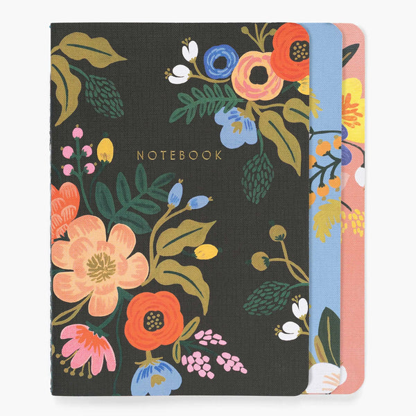 Rifle Paper Co. Assorted Set of 3 Lively Floral Notebooks at barquegifts.com