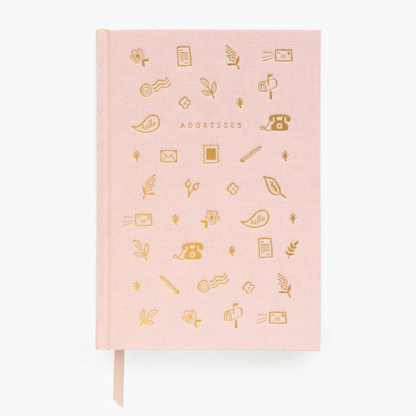 Rifle Paper Co. Blush Address Book at barquegifts.com