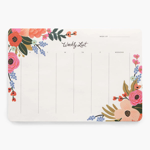 Weekly Desk Notepads