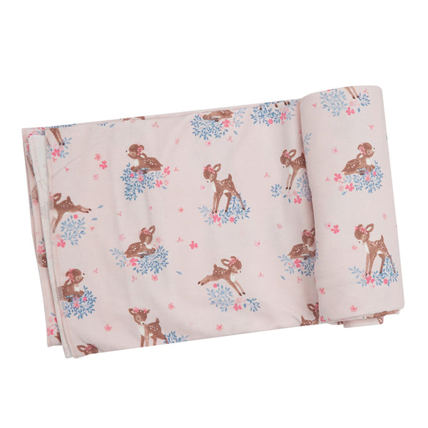 Woodland Deer Swaddle Blanket at barquegifts.com