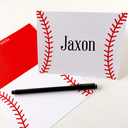 Baseball Folded Note