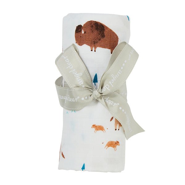 Bison Swaddle Blanket