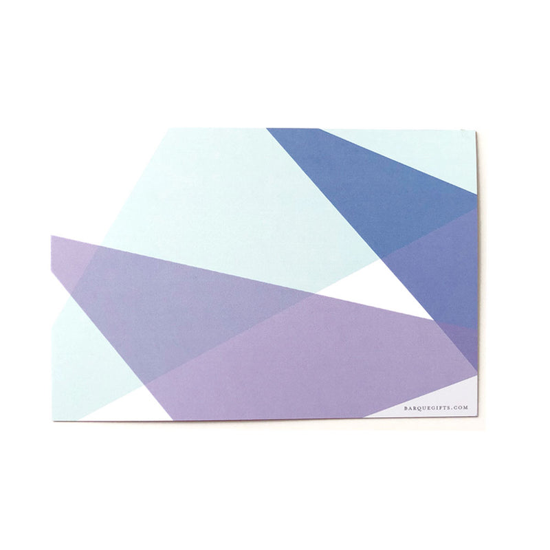 Blue Color Block Flat Note