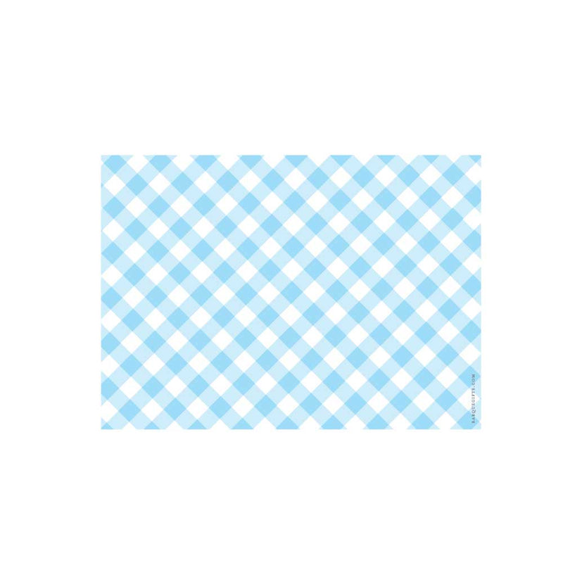 Light Blue Gingham Flat Note