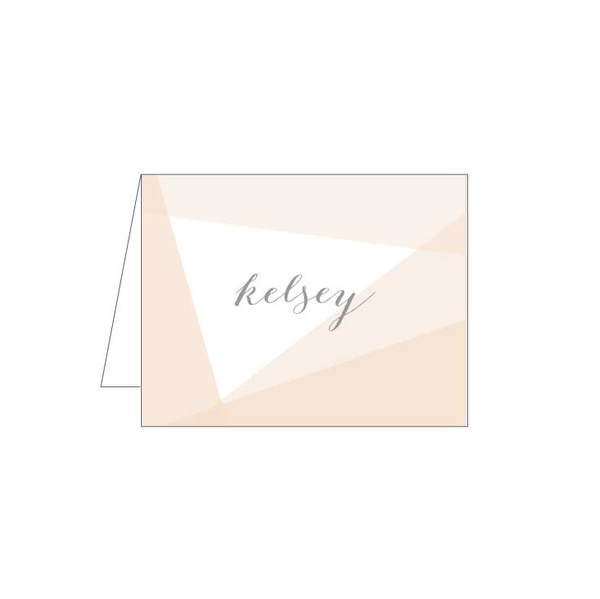 Blush Abstract Folded Note