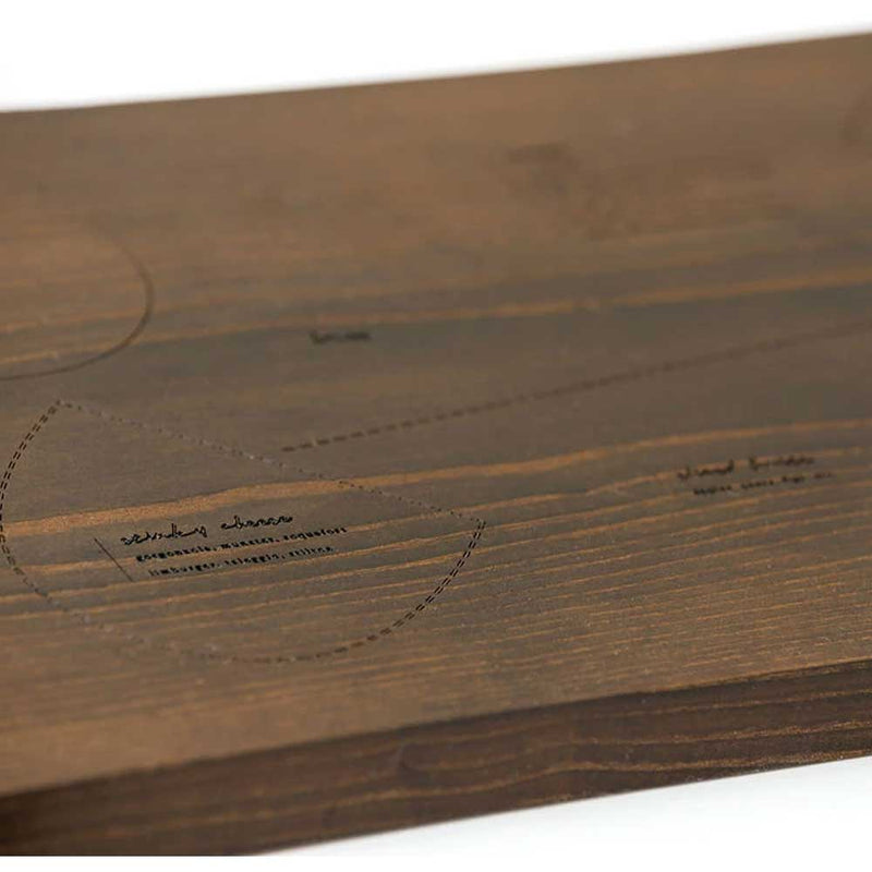 "30"" Charcuterie Board w/Engraved Instructions"