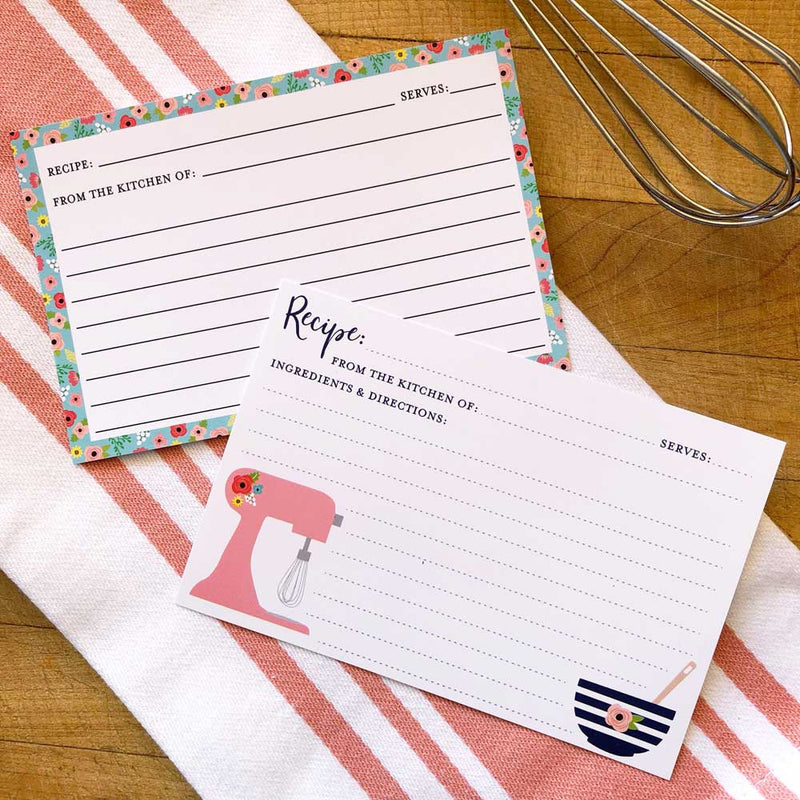 Pink Mixer Recipe Cards