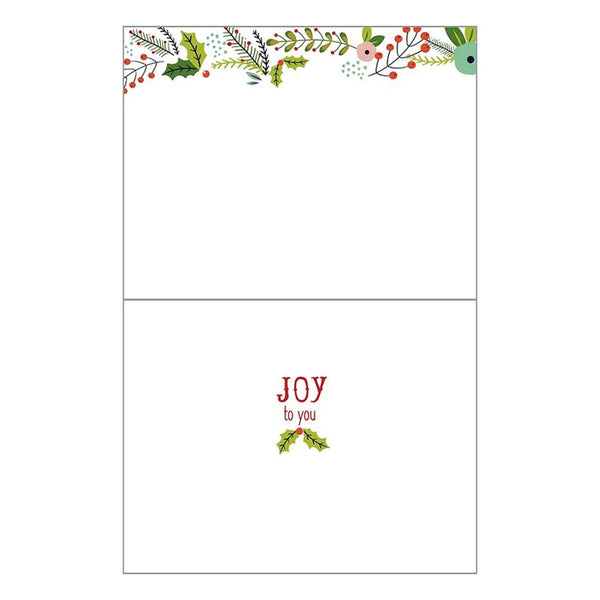 Christmas Flowers Boxed Christmas Cards  (box of 10)