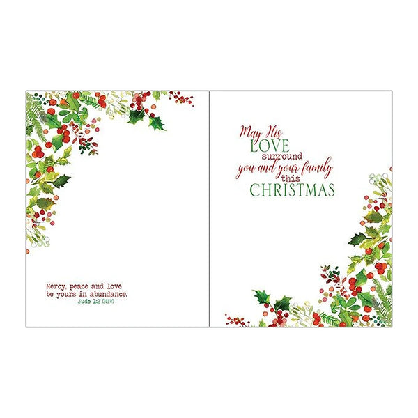 Christmas Wreath Boxed Christmas Cards  (box of 10)