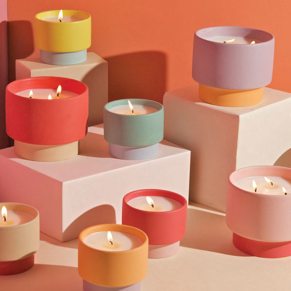 paddywax color block candles on barquegifts.com