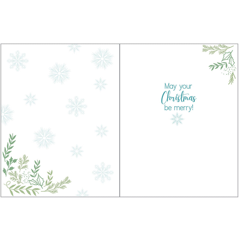 Deer and Snowflakes Boxed Christmas Cards  (box of 10)