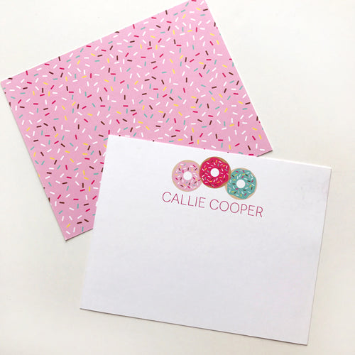 donut stationery