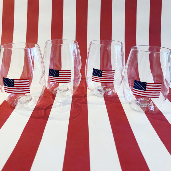 Stemless Flag Tumbler Set of 4