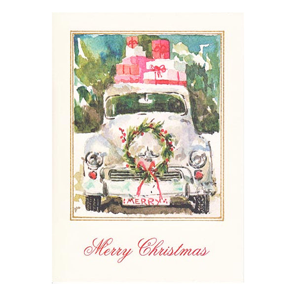 Here Comes Santa Boxed Holiday Cards  (box of 10)