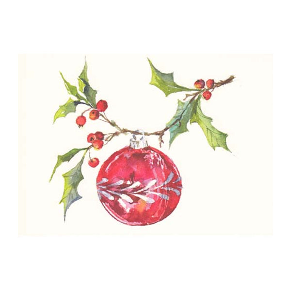Hung on Holly Boxed Holiday Cards  (box of 10)
