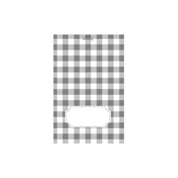 Gray Buffalo Check Folded Note