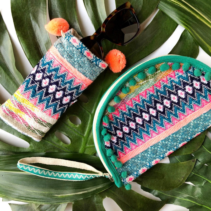patterned taco clutch and sunglasses bag on barquegifts.com