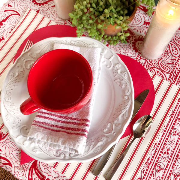 Valentine's Day Paper Table Decorations