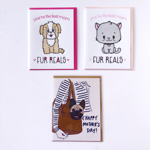 Mother's Day Card Options - For Fur Mommas