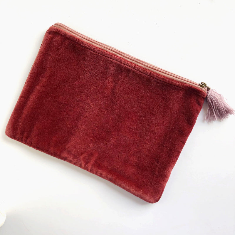 velvet zippered pouch on barquegifts.com