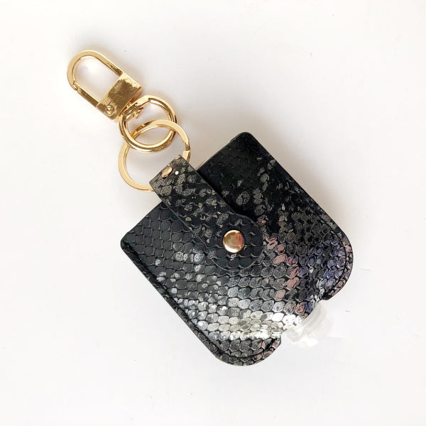 snakeskin hand sanitizer holder on barquegifts.com