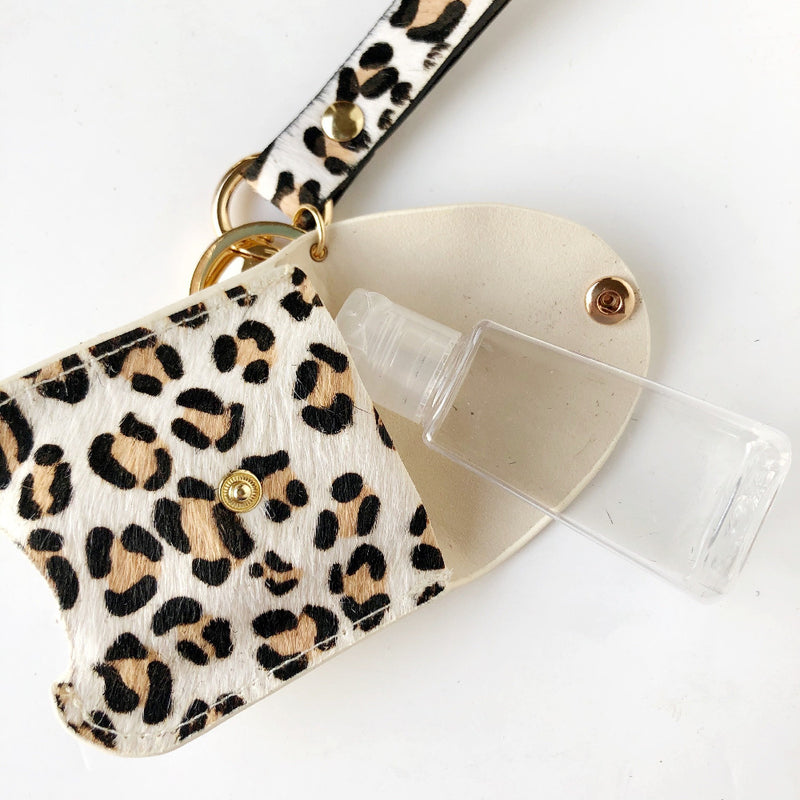 animal print hand sanitizer holder on barquegifts.com