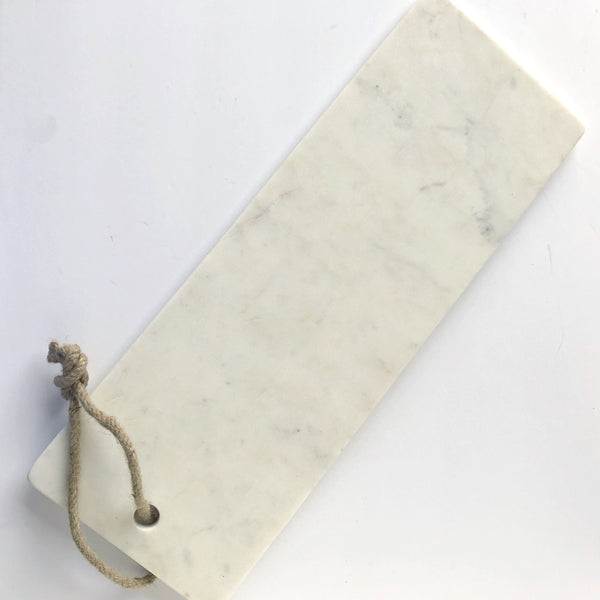 long white marble serving board on barquegifts.com