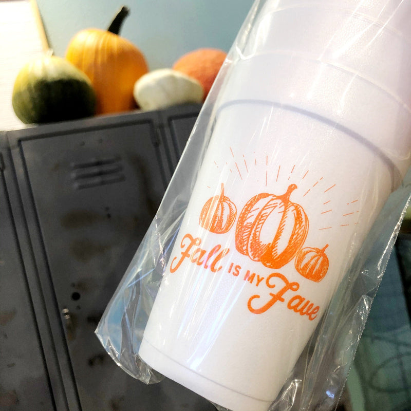 fall is my fave foam cups on barquegifts.com