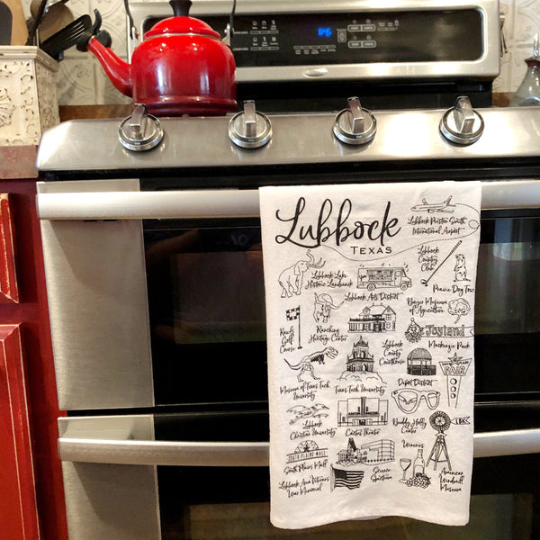 lubbock map towel on barquegifts.com