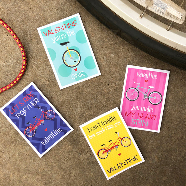 cycle punny valentines on barquegifts.com