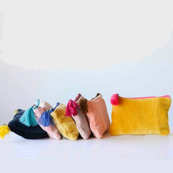 small velvet zippered pouch on barquegifts.com
