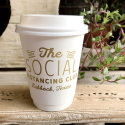 social distancing club paper cups on barquegifts.com