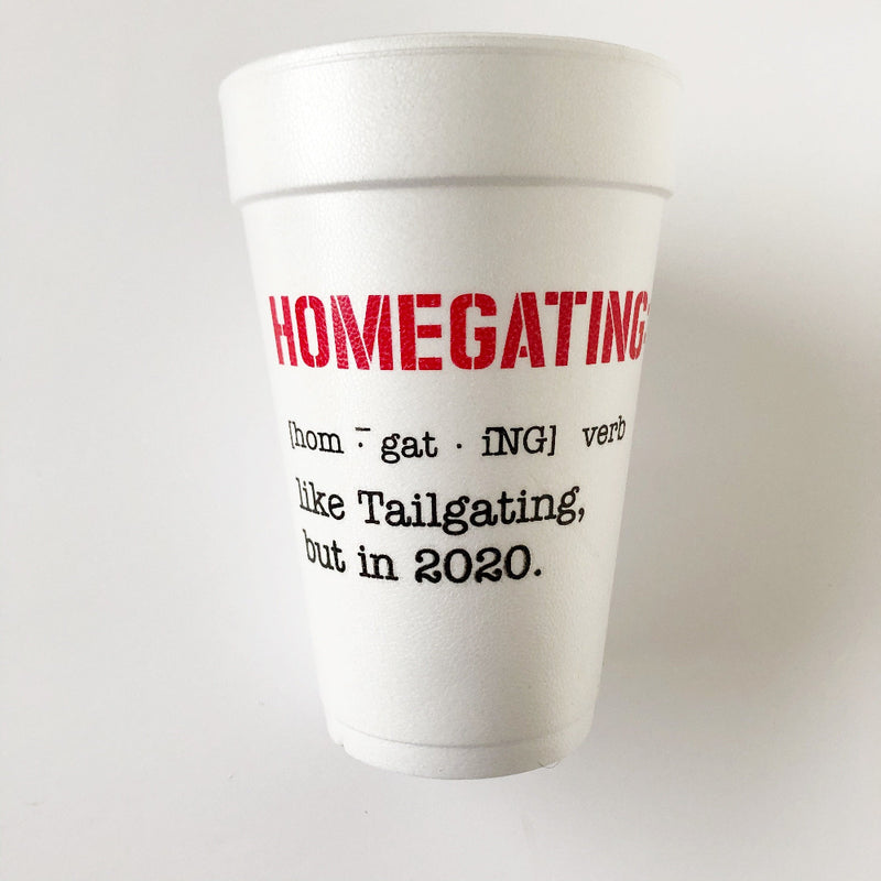 homegating foam cups on barquegifts.com