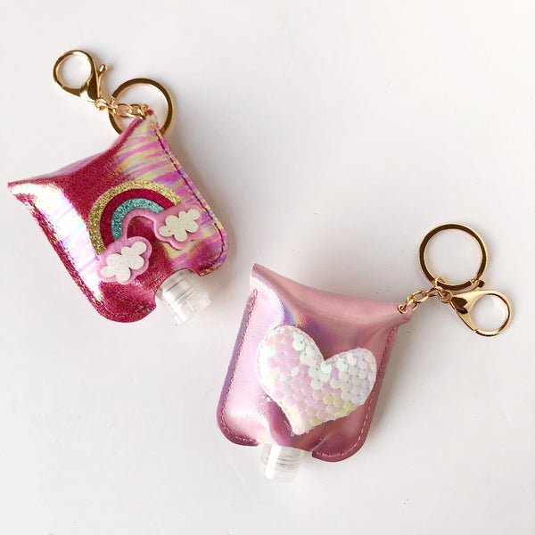 kids sanitizer holder keychain on barquegifts.com