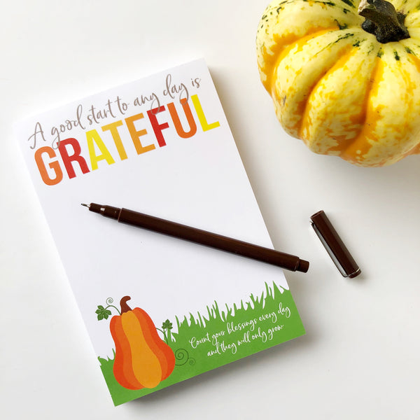 Grateful Fall Notepad