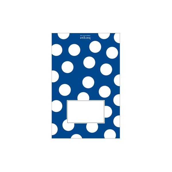 Royal Blue Dots Folded Note