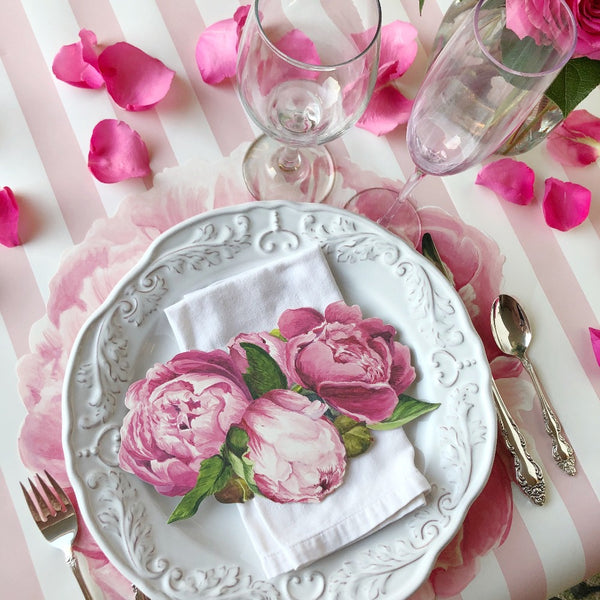 peony paper table decorations on barquegifts.com