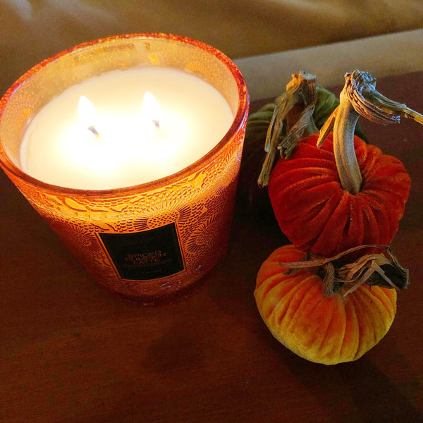spiced pumpkin latte candle on barquegifts.com