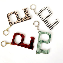 Patterned Hands-Free Acrylic Keychains