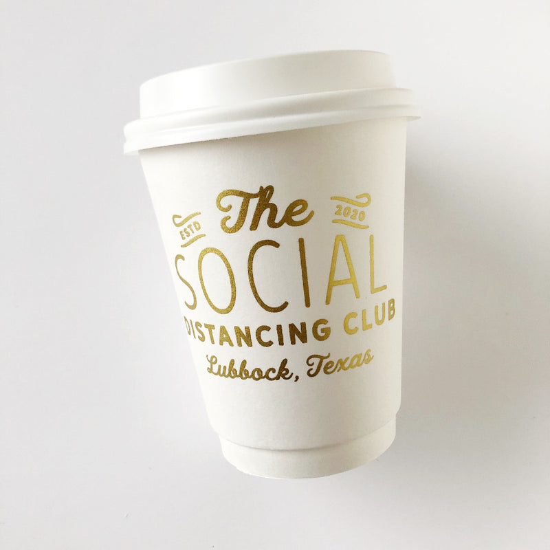 the social distancing club paper cups on barquegifts.com