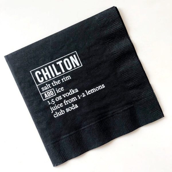 chilton recipe beverage napkins on barquegifts.com