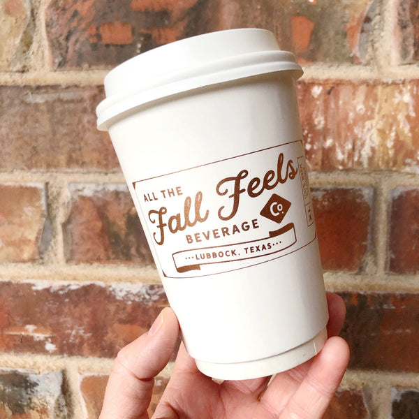 fall feels beverage co. cups on barquegifts.com