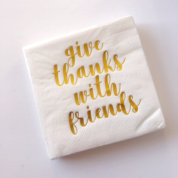 give thanks with friends napkins on barquegifts.com